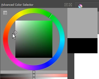 The color selector in Krita