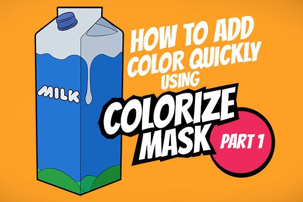 How to add color quickly in Krita using colorize mask part 1