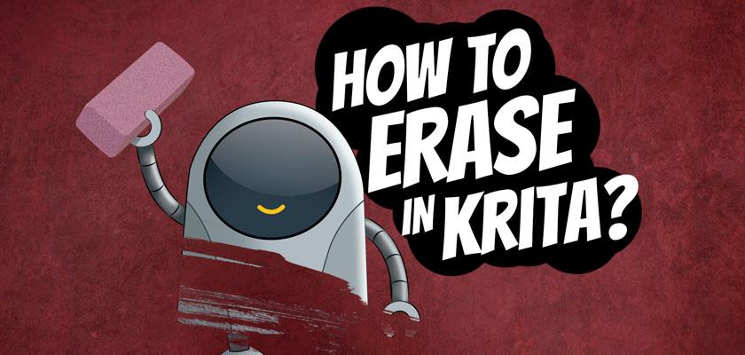 How to erase in Krita? - Krita Tutorials