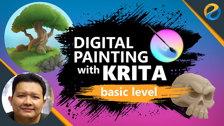 Skillshare course: Digital Painting with Krita | basic level