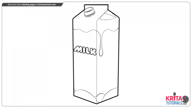 Milk coloring page from kritatutorials.com
