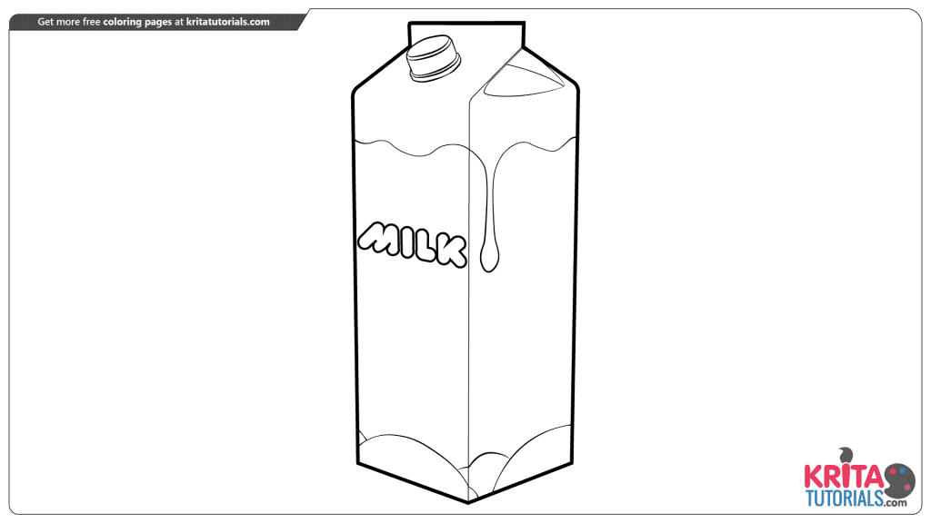 milk bottle coloring page