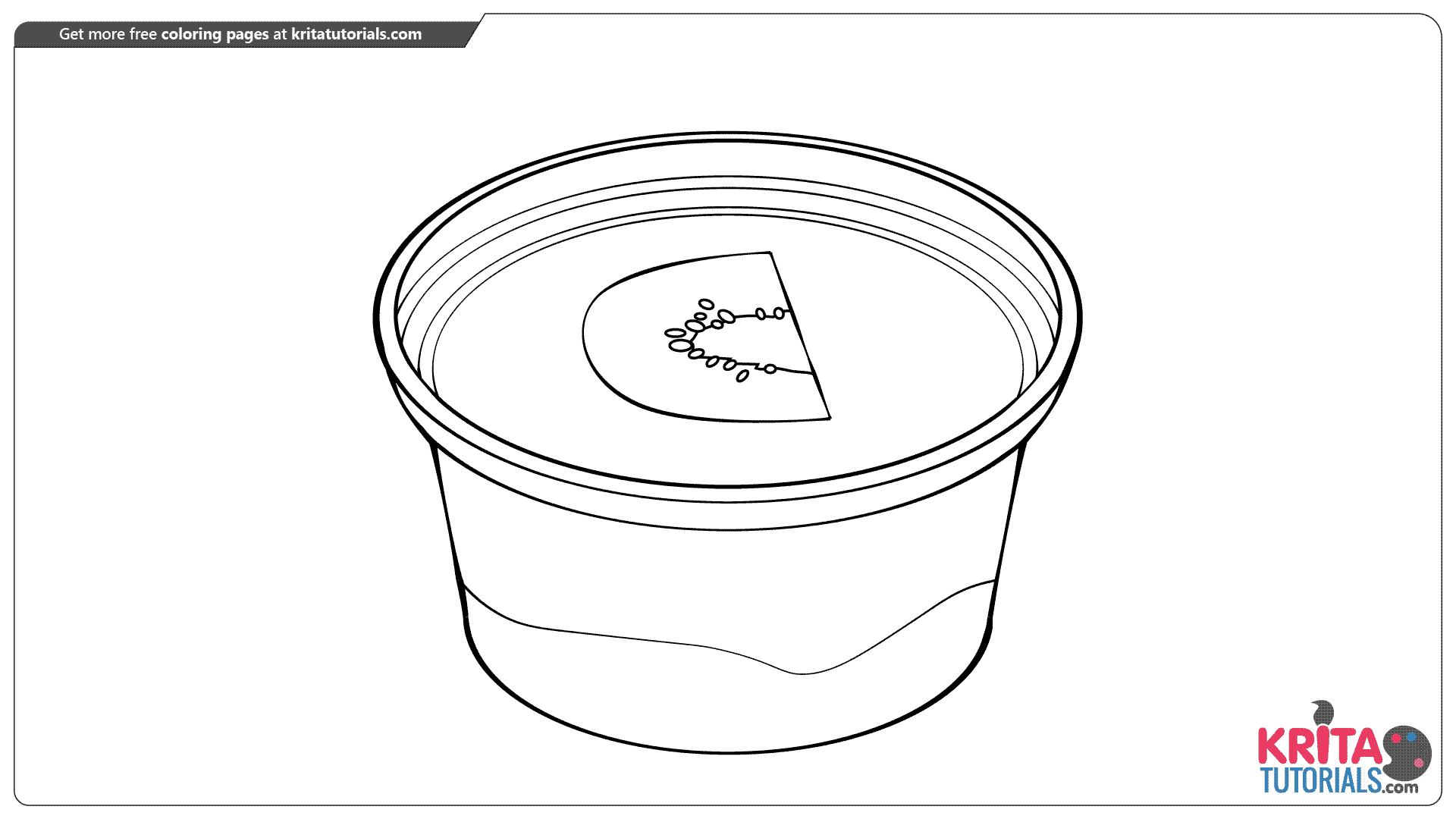Pudding coloring page from kritatutorials.com